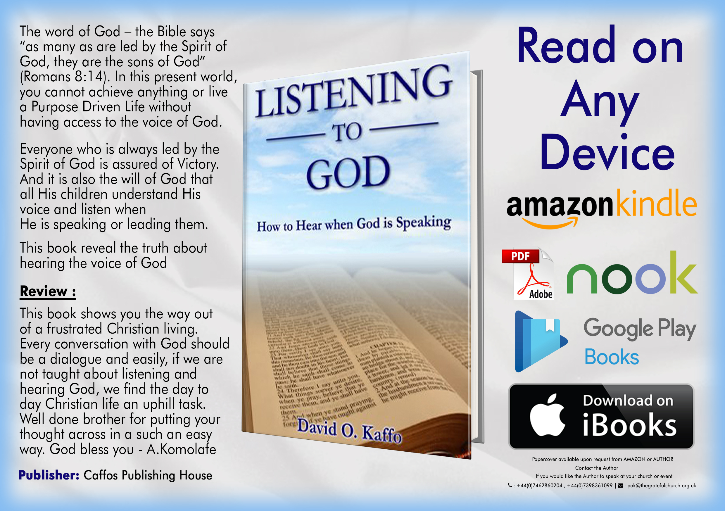 Listening to God by David O. Kaffo
