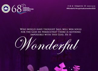 Wonderful - RCCG 2020 Annual Convention - The Christian Mail