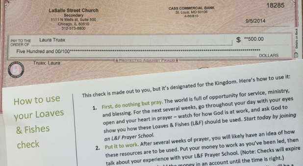 Chicago's LaSalle Str Church recently gave its members $500, with instructions to go out and do something good with it