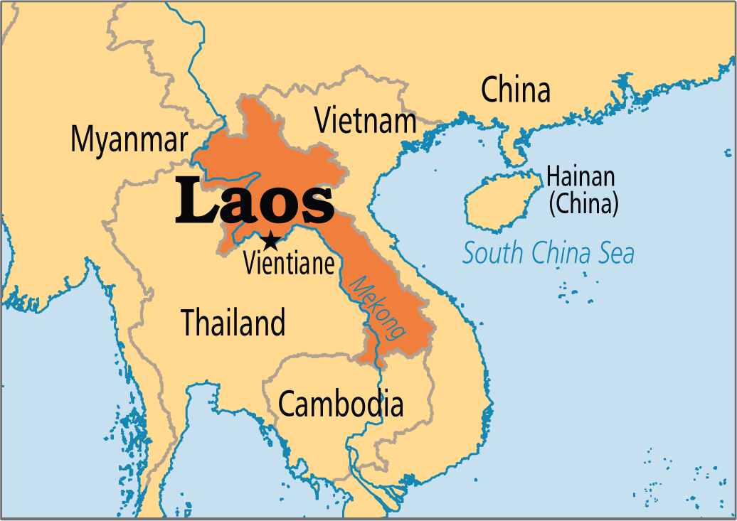 laos map view
