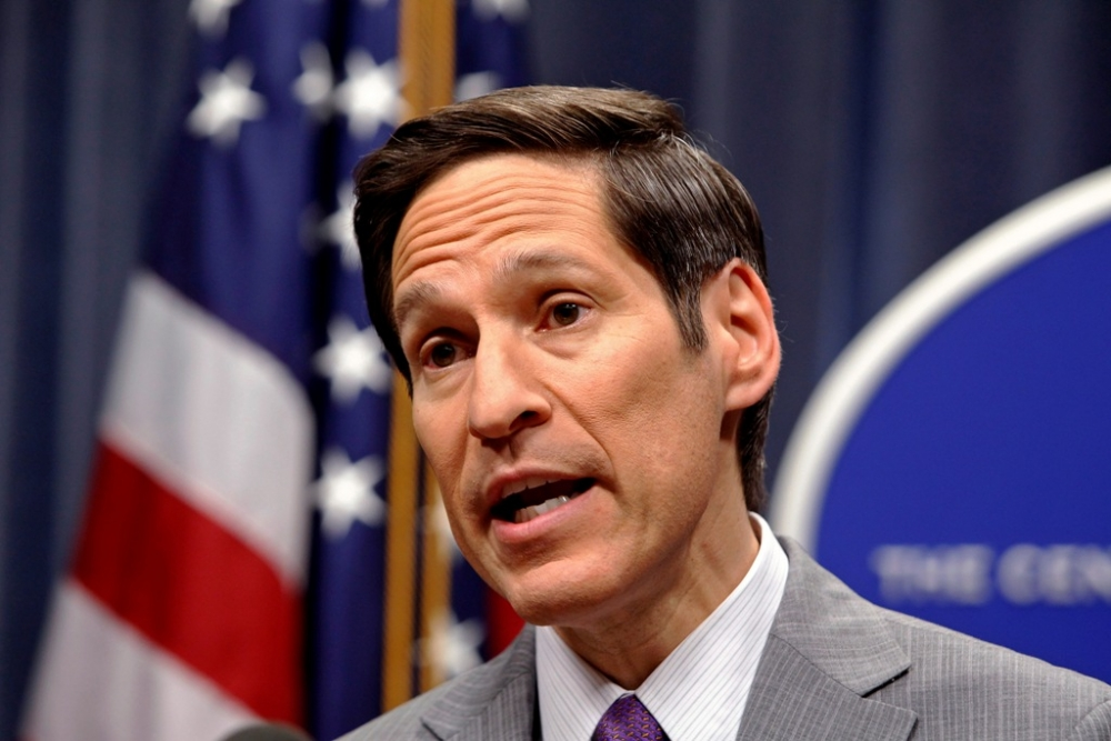 Dr. Tom Frieden, director of the Centers for Disease Control, speaks at the CDC headquarters in Atlanta, Georgia, September 30, 2014.