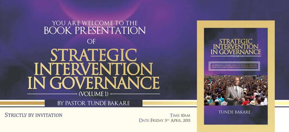 Tunde BaKare book presentation Strategic Intervention in Governance
