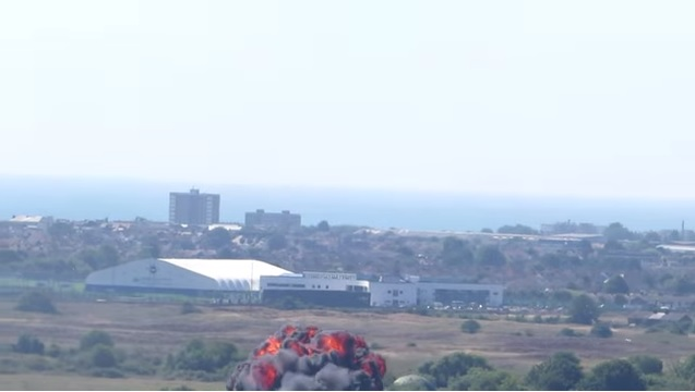 Shoreham Air Show, Sussex - Plane Crash