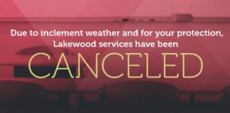 lakewood church cancel service