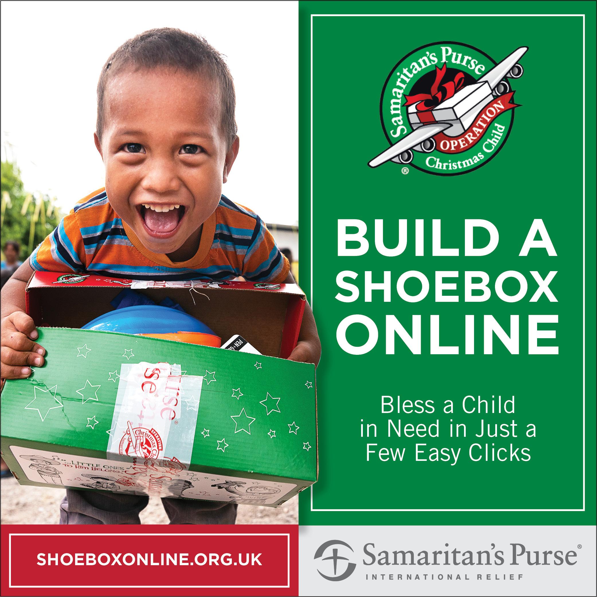 Samaritans Purse Pack a Shoebox